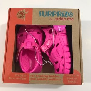 Stride Rite girls pink sandals New in Box